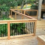 Cedar Wood with Iron Railing