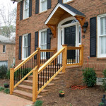 Cedar Wood Railing with Iron Pickets